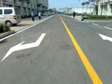 公路黄色单实线